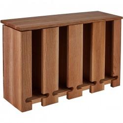 Контейнер для пакетиков чая 4 отделения; дерево; H=95, L=300, B=190мм; коричнев.