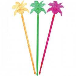 Мешалка «Пальма-кокос»[100шт]; полистирол; L=23, 5см; разноцветн.