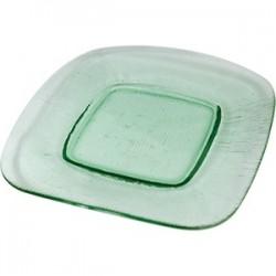Блюдо «Грин»; стекло; L=21, B=21см; зелен.