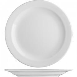 Блюдо круглое «Прага»; фарфор; D=310, H=35мм; белый