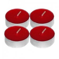 Свечи «Таблетки»[100шт]; воск, алюмин.; D=4, H=4см; красный