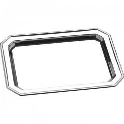 Поднос; сталь нерж.; H=15, L=310, B=410мм; металлич.