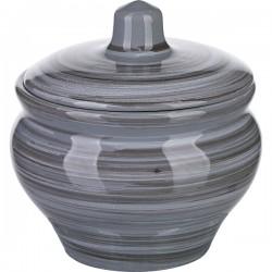 Горшок для запекания «Пинки»; керамика; 350мл; D=10см; серый