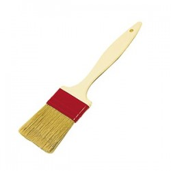 Кисточка кондитерская, натуральная щетина, пластик; H=5, L=260/60, B=40мм; бордо