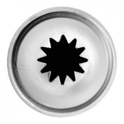 Насадка «12-конечная звезда»; нержавеющая сталь, D=22/12, H=30мм;