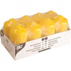 Свечи[8шт]; парафин; D=50, H=86, L=200, B=102мм; желт.