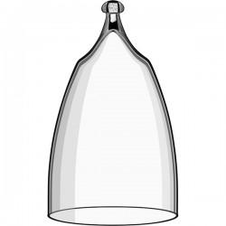Крышка для десертов и проч. закусок; стекло; D=83, H=150мм; прозр.