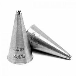 Набор кондит. насадок «Звезда»[2шт]; нержавеющая сталь, D=30/13, H=50, L=115, B=60мм;