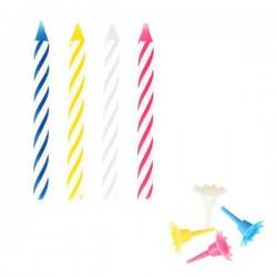 Набор свечей для торта[24шт]; воск; L=19, B=9см