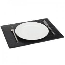 Блюдо сланцевое L=44, 3, B=29, 8см; черный