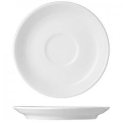 Блюдце «Прага»; фарфор; D=165, H=25мм; белый