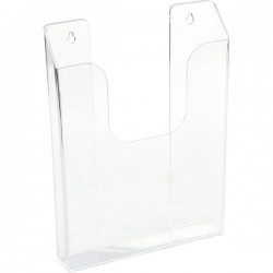 Буклетница А6; пластик; H=15, L=11, B=3см;