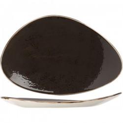 Блюдо «Крафт»; фарфор; H=35, L=370, B=240мм; серый