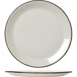 Блюдо «Чакоул дэппл»; фарфор; D=30см; белый, черный