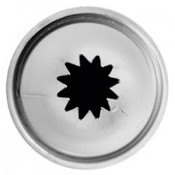 Насадка «Звезда»; нержавеющая сталь, D=22/12, H=30мм;