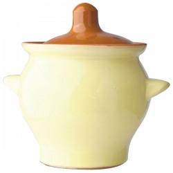 Горшок для запекания «Грибок»; керамика; 450мл; D=10, 5, H=10см; желт., коричнев.