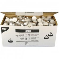 Свечи «Таблетки»; воск, алюмин.; D=40, H=16, L=40мм; белый, серебрист.