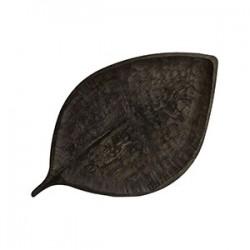 Блюдо «Береза» мореный дуб; H=3, L=53, B=31см