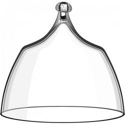 Крышка для десертов и проч. закусок; стекло; D=11, H=10, 4см; прозр.