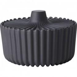 Сахарница «Пекое»; керамика; D=90, H=55мм; черный