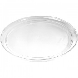 Поднос круглый; пластик; D=35см; прозр.
