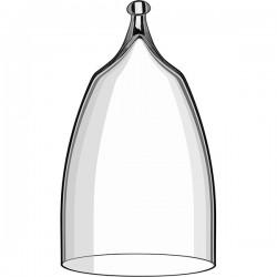Крышка для десертов и проч. закусок; стекло; D=91, H=160мм; прозр.