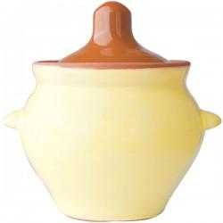 Горшок для запекания «Грибок»; керамика; 0, 6л; D=14, 5, H=11см; желт., коричнев.