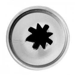 Насадка «Звезда»; нержавеющая сталь, D=22/8, H=30мм;