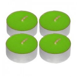 Свечи «Таблетки»[100шт]; воск, алюмин.; D=4, H=4см; зелен.