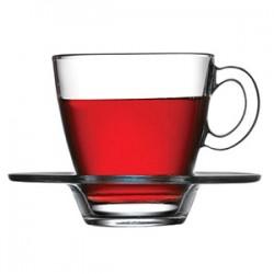 Пара чайная «Аква»; стекло; 215мл; D=88/130, H=85мм