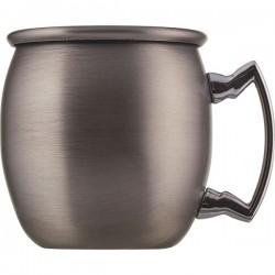 Кружка шот «Московский мул» античный никель; сталь нерж.; 60мл; D=43, H=47, L=55мм; никелев.