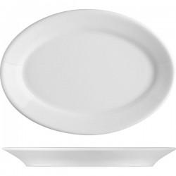 Блюдо овальное «Прага»; фарфор; H=30, L=315, B=215мм; белый