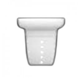 Фильтр д/чайника «Версаль»; фарфор; D=85, H=85, B=79мм; белый