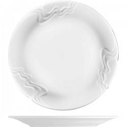 Блюдо «Мелодия»; фарфор; D=300, H=25мм; белый