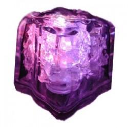 Кубик льда светящ. с кнопкой без батарейки (батар. CR1620 2шт. ); пластик; H=35, L=30, B=30мм; прозр.