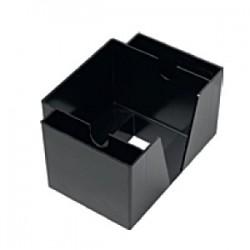 Подставка для салфеток барная; абс-пластик; H=13, L=19, B=14см; черный