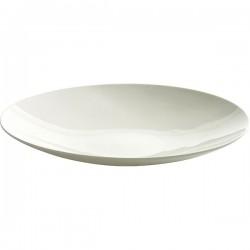 Блюдо глубокое «Ленс»; фарфор; D=270, H=37мм; белый