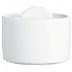 Сахарница «Дайринг»; фарфор; 200мл; H=8, L=9, B=8см; белый