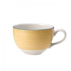 Чашка чайная «Рио Еллоу»; фарфор; 450мл; D=12, H=8, L=15см; белый, желт.