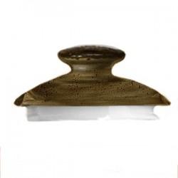 Крышка д/чайника «Крафт»; фарфор; коричнев.