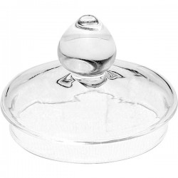 Крышка д/чайника 900мл; стекло; D=5см; прозр.