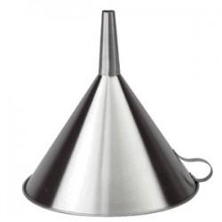 Воронка; сталь нерж.; D=20, H=22, L=22, B=20см;