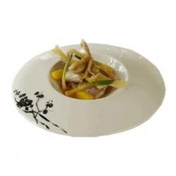 Блюдо «Джапоника»; фарфор; 450мл; D=31, H=1см; белый