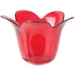 Подсвечник «Рэд»; стекло; D=14, 5, H=10, 1, B=14см; красный
