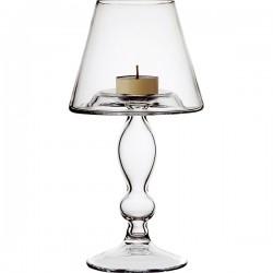 Подсвечник «Банкет»; стекло; D=12, H=23, 5см; прозр.