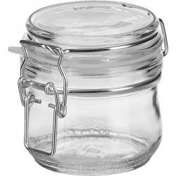 Банка для сыпучих продуктов , закрытая прокладка; стекло, силикон; 250мл; прозр.