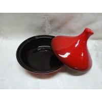 Тажин 1 литр с крышкой красный