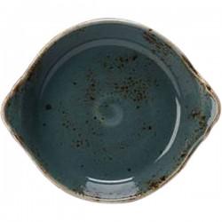 Блюдо для запек. «Крафт»; фарфор; D=185, H=45мм; синий