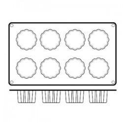 Форма кондитерская «Каннеле» 8 ячеек; силикон; D=50, H=50, L=295, B=175мм;