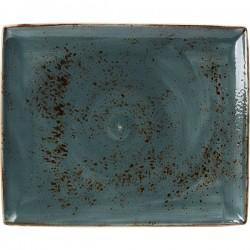 Блюдо прямоугольное «Крафт Синий» 33x27см
